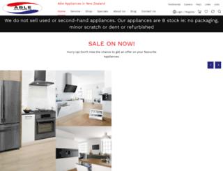 ableappliances.co.nz screenshot
