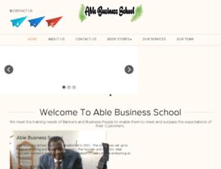 ablebusinessschool.com screenshot