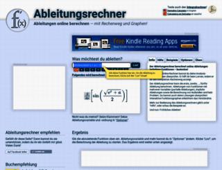 ableitungsrechner.net screenshot