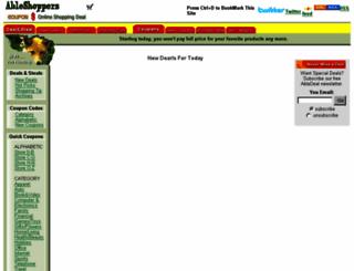 ableshoppers.com screenshot