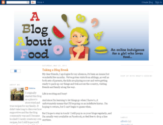 ablogaboutfood2.blogspot.com screenshot