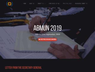 abmun.org screenshot