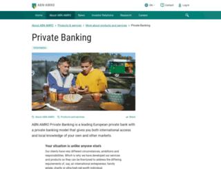 abnamroprivatebanking.com screenshot