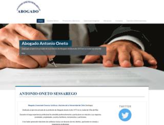 abogadooneto.cl screenshot