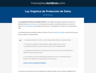abogados-lopd.es screenshot