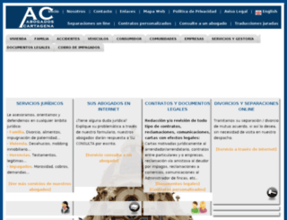 abogadoscartagena.com screenshot