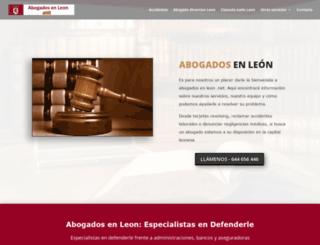 abogadosenleon.net screenshot