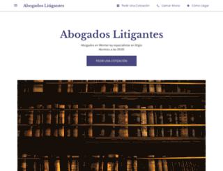 abogadoslitigantes.com.mx screenshot
