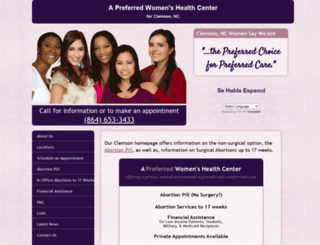 abortionclinicservicesclemsonsc.com screenshot