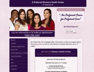 abortionclinicservicesgreenvillenc.com screenshot