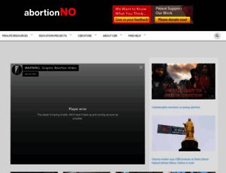 abortionno.org screenshot