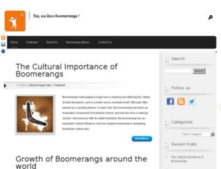 about-boomerangs.com screenshot