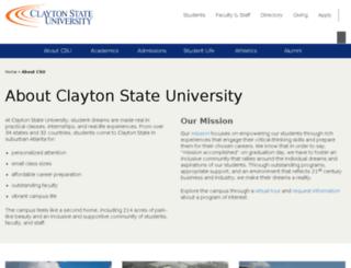 about.clayton.edu screenshot