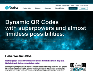 about.delivr.com screenshot