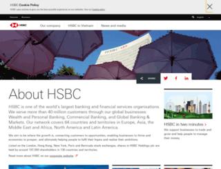 about.hsbc.com.vn screenshot