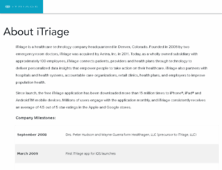 about.itriagehealth.com screenshot
