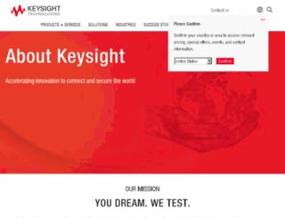 about.keysight.com screenshot