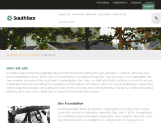 about.southface.org screenshot