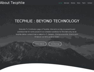 about.tecphlie.in screenshot
