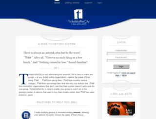about.ticketstothecity.com screenshot