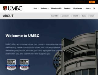 about.umbc.edu screenshot