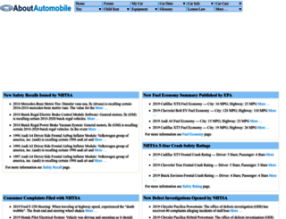 aboutautomobile.com screenshot
