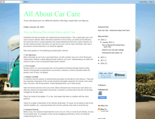 aboutcarcare.blogspot.com screenshot