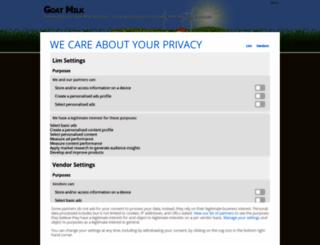 aboutgoatmilk.info screenshot