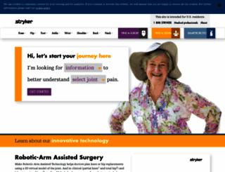 aboutstryker.com screenshot