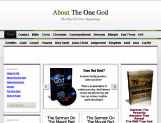 abouttheonegod.com screenshot