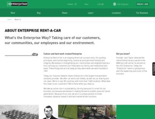 aboutus.enterprise.com screenshot