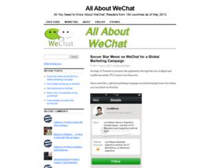 aboutwechat.wordpress.com screenshot