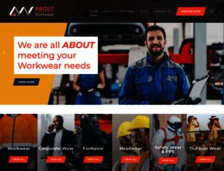 aboutworkwear.co.za screenshot