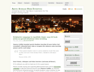 aboveaverageodds.com screenshot