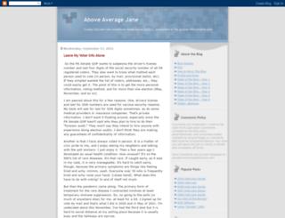 aboveavgjane.blogspot.com screenshot