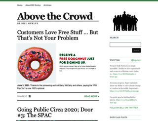 abovethecrowd.com screenshot