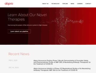 abpro-labs.net screenshot