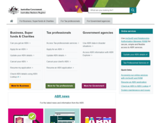 abr.gov.au screenshot
