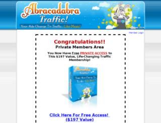 abracadabratraffic.com screenshot
