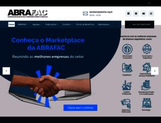 abrafac.org.br screenshot