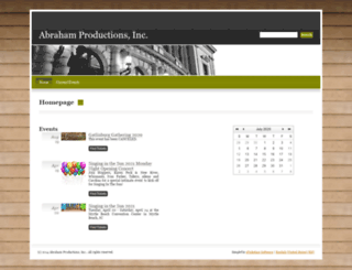 abraham-productions.simpletix.com screenshot