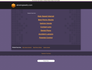 abramsjewelry.com screenshot