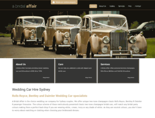 abridalaffair.com.au screenshot