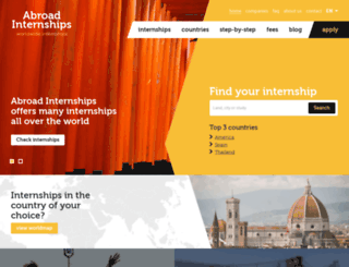 abroad-internships.com screenshot