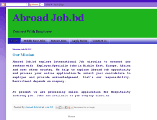 abroadjobbd.blogspot.com screenshot