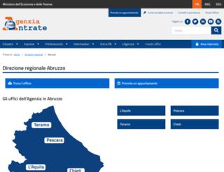abruzzo.agenziaentrate.it screenshot