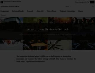 abs.uva.nl screenshot