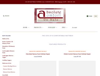 absolutecomfortonsale.com screenshot