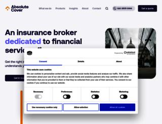 absolutecover.co.uk screenshot