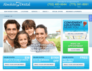 absolutedentalonline.com screenshot